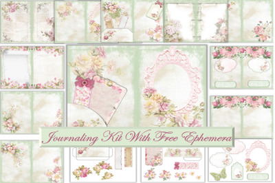 Printable Journal Kit Shabby Chic With free Ephemera and clipart