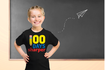 School 100 Days Sharper Pencil | SVG | PNG | DXF