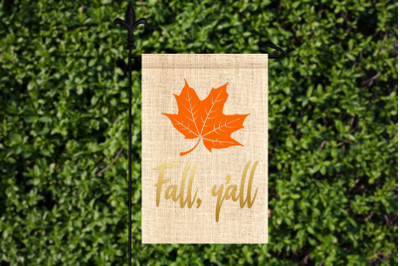 Fall Y'all Leaf | SVG | PNG | DXF