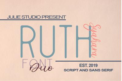 Ruth Syahara Font Duo