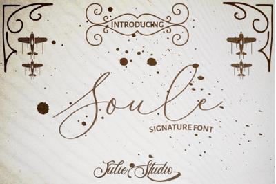 Soule Signature Font