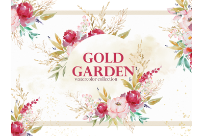 Gold Garden Watercolor Set