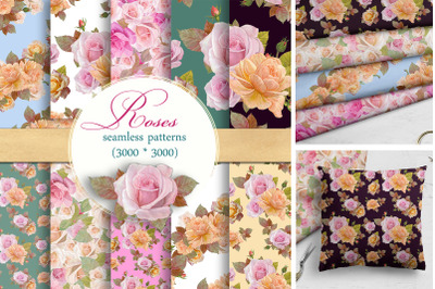 seamless patterns with roses