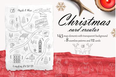 Christmas card map creator