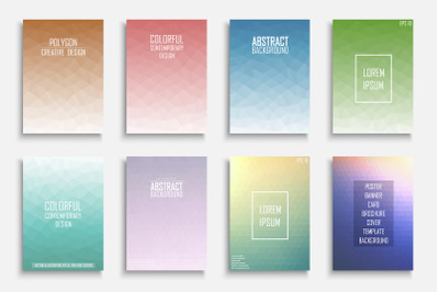 Colorful geometric vector posters