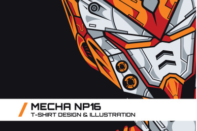 Mecha NP16 T-Shirt Illustration