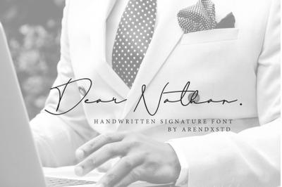 Dear Nathan Signature
