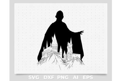 voldemort silhouette svg file