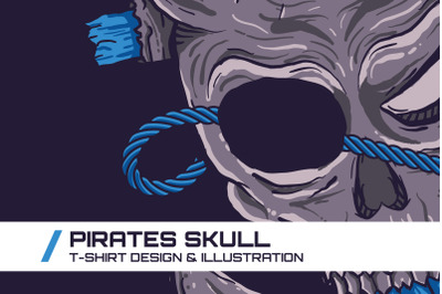 Pirates Skull T-Shirt Illustration