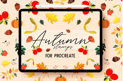 45 Procreate Autumn Stamp Brushes