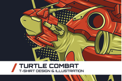 Turtle Combat T-Shirt Illustration