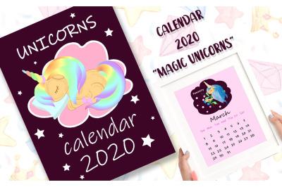 "Calendar 2020 ""Magic Unicorns"""