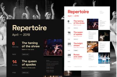 Theatre Schedule Poster