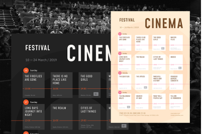 Film Festival Schedule Poster