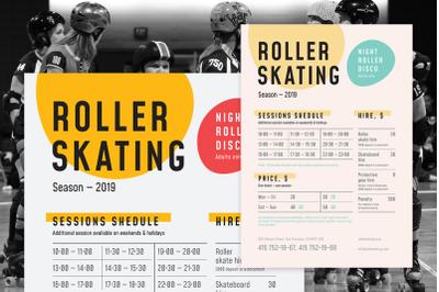 Roller Skating Schedule Poster