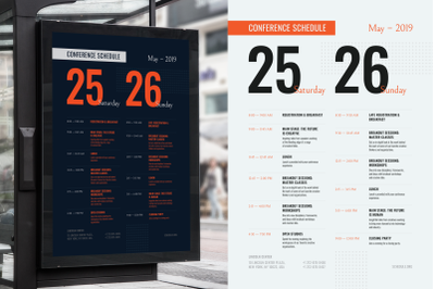 Conference Schedule Poster Template