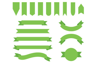 Garden Green Badge & Banner Clip Art Set