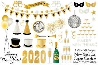 New Year's Eve 2020 Clipart