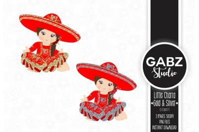 Little Charra, Red, Gold and Silver, Clipart