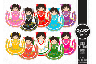 Jalisco Traditional Dress Clipart