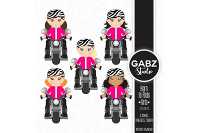 Born to Ride, Girls, Clipart