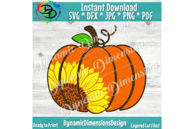 Sunflower svg, Pumpkin SVG, Sunflower pumpkin svg, Happy Fall Yall Sv
