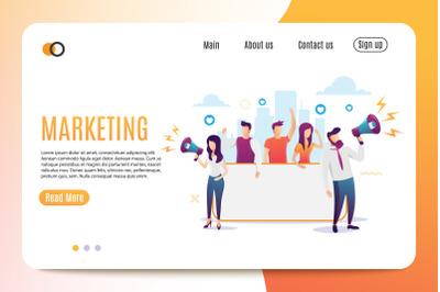 Marketing. Flat Style. Banner