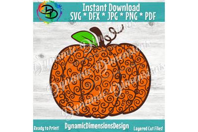 Sunflower svg, Pumpkin SVG, pumpkin Zentangle svg, Fall Svg, Pumpkin S