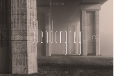 Slendergrey   an unique sans serif