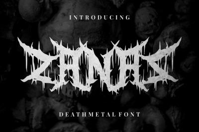 Zanaz - Deathmetal Font