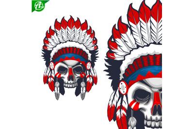 Skull head indian