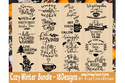 Winter Christmas SVG Bundle