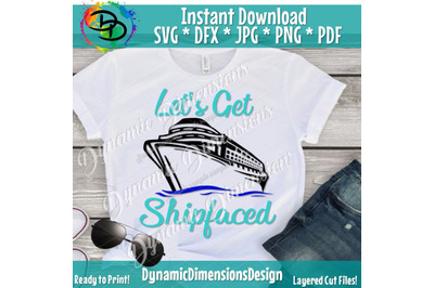 let's get shipfaced svg, cruise ship svg, family cruise svg, ship face