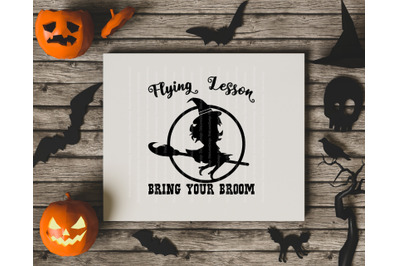 Flying Lesson Bring Your Broom SVG