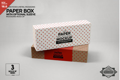 Paper Boxes with Sleeve Mockup
