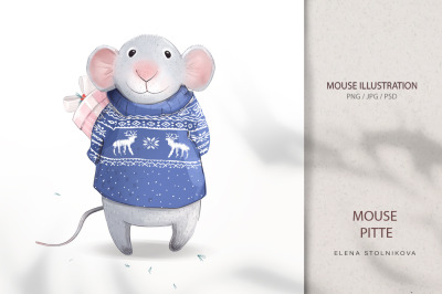 Mouse Pitte/ new year 2020