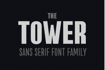 the Tower. Sans Serif font family