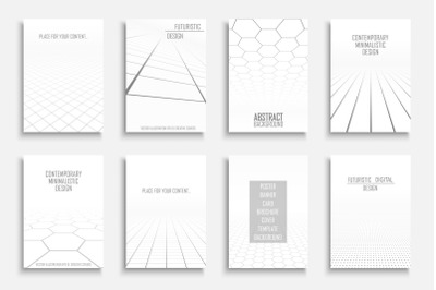 White abstract futuristic templates