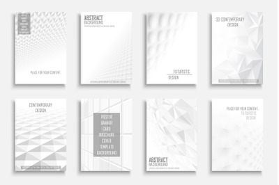 Abstract futuristic white posters