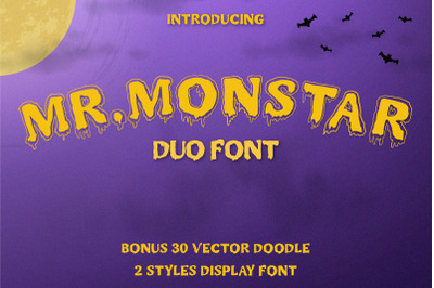 MR.MONSTAR Duo Font & Extras