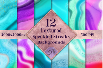 Textured Speckled Streaks Backgrounds