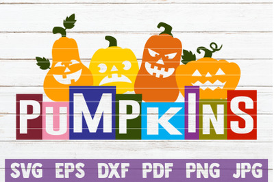 Pumpkins SVG Cut File
