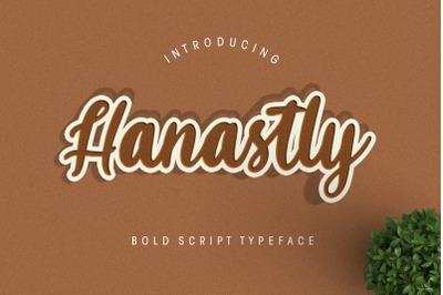 Hanastly Bold Script