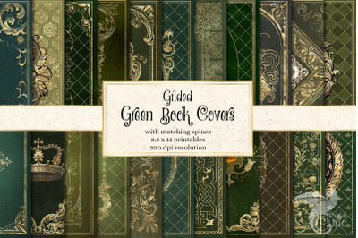 Gilded Green Book Covers