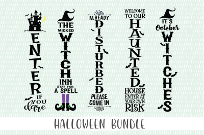 Halloween Front Porch Sign SVG Bundle