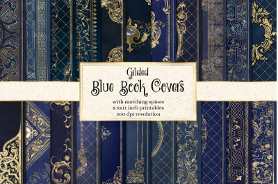 Gilded Blue Book Covers