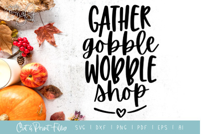 Gather Gobble - DXF/SVG/PNG/PDF Cut & Print Files