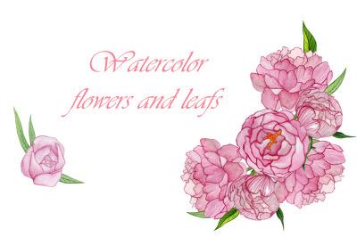 watercolor peonies. Wedding design