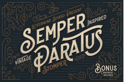 Stomper - A Vintage Display Font