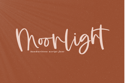 Moonlight - A Handwritten Script Font